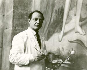 Otto Schultz restauriert Adam und Eva (1959)